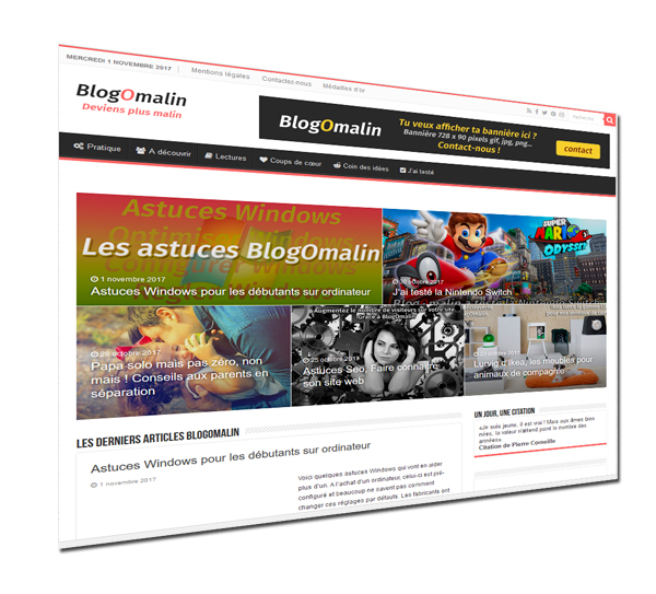 découvre vite BlogOmalin le blog génial qui va te rendre malin