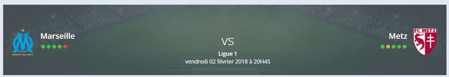 Le pronostic Marseille Metz de RDJ est contre les Messins !