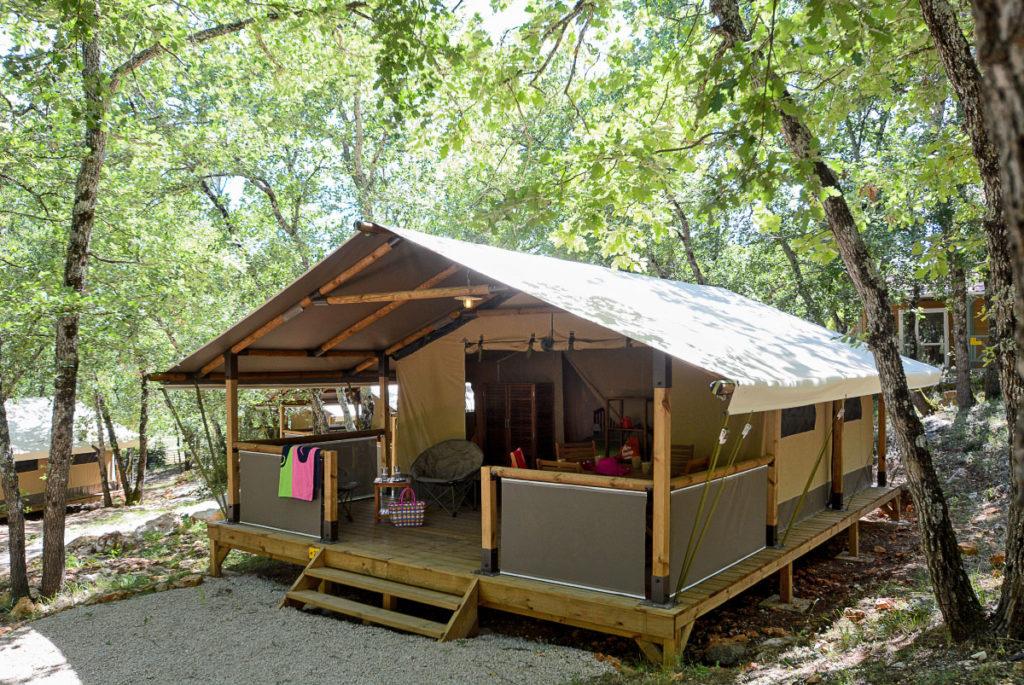 Location de lodges dans un camping du Var