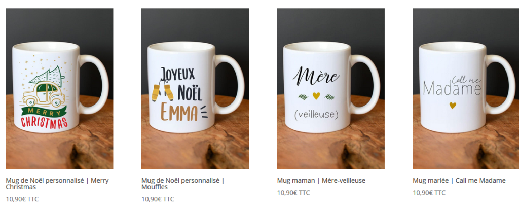 A offrir : mug personnalisé… ou pas loin.